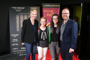 Press Eye Belfast - Northern Ireland - 31st July 2016    Sheila, Ella, Mia and Trevor Birney are pictured at the film premiere of Bobby Sands: 66 Days at the Omniplex Cinema at the Kennedy Centre in west Belfast.  The premiere was hosted with Féile An Phobail and West Belfast Film Festival.  Photo by Kelvin Boyes  / Press Eye