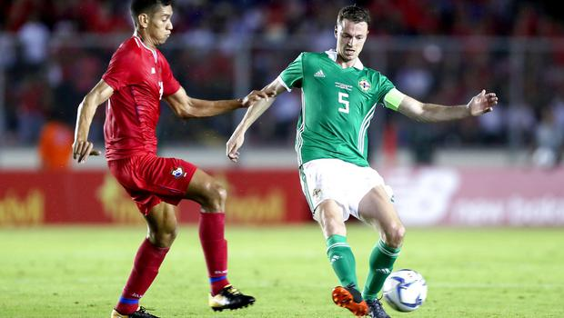 Press Eye - Belfast -  Northern Ireland - 29th May 2018 - Photo by William Cherry/Presseye  Northern Ireland's Jonny Evans during Wednesday nights International Friendly at the Estadio Rommel Fernandez, Panama City.