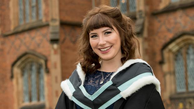 Graduation success for Caitlin McIlwraith from Warwick who has received a BA in Philosophy from Queen's University Belfast
