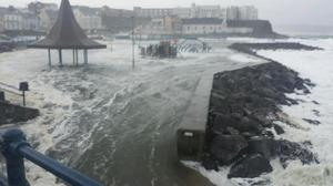 The playpark is submerged at Portstewart. Pic Portstewart Prom
