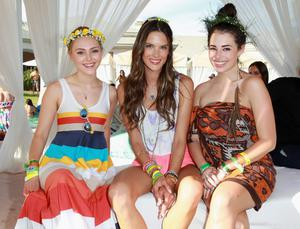 THERMAL, CA - APRIL 13: (L-R) Actress Annasophia Robb, model Alessandra Ambrosio and actress Chloe Bridges attend LACOSTE L!VE Desert Pool Party In Celebration Of Coachella on April 13, 2013 in Thermal, California.  (Photo by Joe Scarnici/Getty Images for LACOSTE)