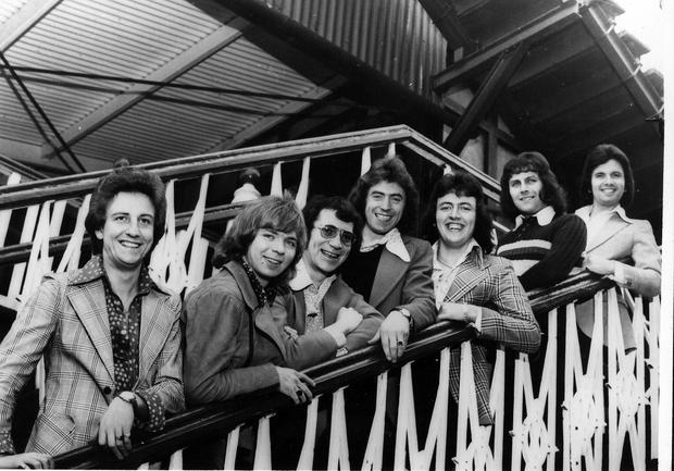 The Miami Showband pose for the camera.  4/6/1972
