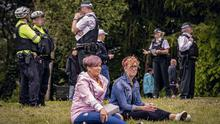 A protest against lockdown restrictions is held at Ormeau Park in south Belfast on May 16th 2020 (Photo by Kevin Scott for Belfast Telegraph)