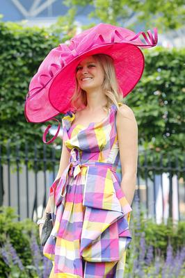 Racegoer Verity Richardson from London during Ladies' Day on day three of the Royal Ascot meeting at Ascot Racecourse, Berkshire. PRESS ASSOCIATION Photo. Picture date: Thursday June 20, 2013. See PA story RACING Ascot. Photo credit should read: Steve Parsons/PA Wire