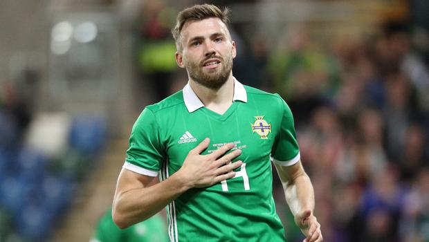 Stuart Dallas netted his third goal for Northern Ireland on Tuesday evening.