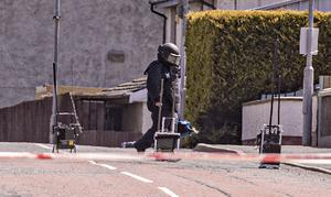 Police at the scene of a security alert in Stoneyford on May 6th 2020 (Photo by Kevin Scott for Belfast Telegraph)