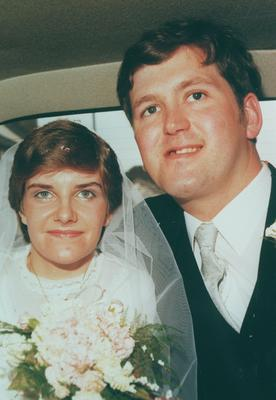 John Torney and his wife Linda on their wedding day.