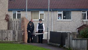 Police have sealed off Silverthorn Avenue in Coleraine. Photo: Steven McAuley Multimedia