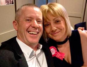 Happier times: Samantha and Frank before she became ill