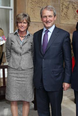 Owen Paterson with his wife Rose Photo: PressEye