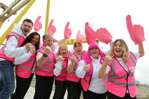 ©Press Eye Ltd Northern Ireland -  2014 Look out for the Giro Big Start Volunteers, over 1,000 have been recruited by Volunteer Now to marshall the route for over 140,000 spectators during Giro d'Italia 2014 Mandatory Credit - Picture by Brian Thompson / Presseye.com
