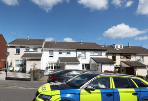 The scene in North Belfast where Detectives are appealing for information following a shooting incident at a house in Ardoyne last night.