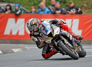 Pacemaker Belfast 3-6-19 Monster Energy Supersport Race - 2019 TT Peter Hickman - (Trooper Beer Triumph by Smiths Racing  Triumph)  at Quarterbridge during today's Monster Energy Supersport Race at the 2019 TT in the Isle of Man.  Photo by David Maginnis/Pacemaker Press