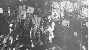 Adam and the Ants playing the Glasgow Tiffany's venue in 1980 (@crumbstick/PA)
