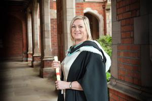 Carole Maslowski from Dunmurry has graduated from Queen's with a BA in Management and Business. Carole works in the University's Environmental Planning Office.