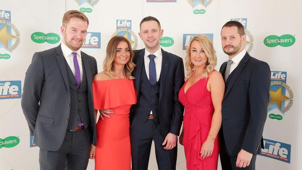 Press Eye - Belfast - Northern Ireland - 16th June 2017 -   Specsavers Victoria Square staff pictured at the Sunday Life Spirit of Northern Ireland Awards with Specsavers at the Culloden Hotel. Photo by Kelvin Boyes / Press Eye.