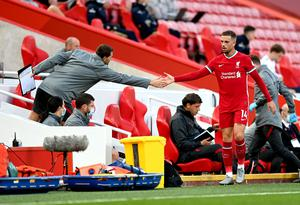 Jordan Henderson's injury is not believed to be serious (Sean Botterill/PA)
