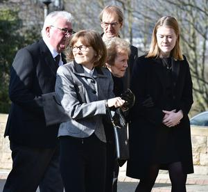Barney Eastwood's wife Frances and family members