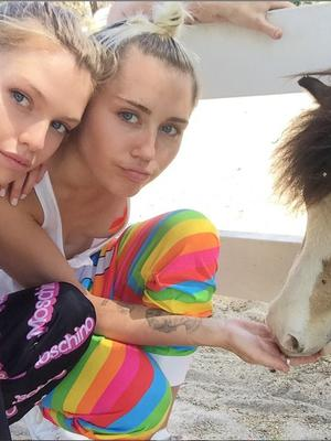 Miley Cyrus and Stella Maxwell. Pic Instagram/MileyCyrus