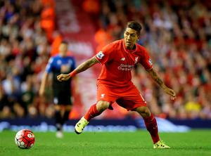 "Liverpool's Roberto Firmino during the Barclays Premier League match at Anfield, Liverpool. PRESS ASSOCIATION Photo. Picture date: Monday August 17, 2015. See PA story SOCCER Liverpool. Photo credit should read: Peter Byrne/PA Wire. EDITORIAL USE ONLY. No use with unauthorised audio, video, data, fixture lists, club/league logos or ""live"" services. Online in-match use limited to 45 images, no video emulation. No use in betting, games or single club/league/player publications."