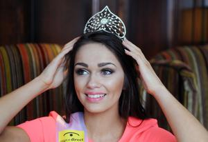 Newly Crowned Beauty Rebekah Shirley  on her first day as  The Open + Direct Miss Northern Ireland 2014, with 13 Heats across NI, Beating 26 Finalists from13 Heats across NI with the final being held in the Europa Hotel Belfast on Monday evening. Photo Kirth Ferris/Pacemaker Press