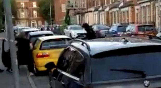People intervened to stop the men stealing the car.