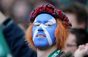DUBLIN, IRELAND - FEBRUARY 02:  A scotish fan looks on during RBS Six Nations match between Ireland and Scotland at the Aviva Stadium on February 2, 2014 in Dublin, Ireland.  (Photo by Ian Walton/Getty Images)