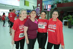 GRANT THORNTON RUNWAY RUN SCALES NEW HEIGHTS Sarah Sharley, Ciara Lagan, Jane McKay and Katie Reid from Tughans  get warmed up for last nightÕs Grant Thornton Runway Run at Belfast City Airport. The hugely-popular event attracted a record number of runners as 600 local businessmen and women took part in the 5k run on the tarmac of the airport. Teams of four from organisations across a wide range of sectors came together for the third year of the leading business advisory firmÕs event. Ê