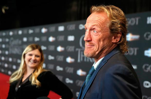 Jerome Flynn attending the Game of Thrones Premiere, held at Waterfront Hall, Belfast. PRESS ASSOCIATION Photo. Picture date: Friday April 12, 2019. See PA story SHOWBIZ Thrones. Photo credit should read: Liam McBurney/PA Wire