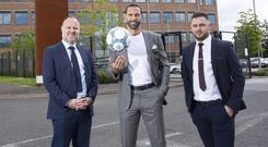Rio Ferdinand with Shane Smith and Lee Mudd.