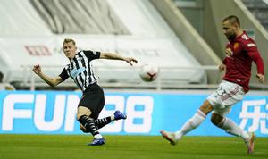 Luke Shaw's own goal gave Newcastle the early lead (Owen Humphreys/PA)
