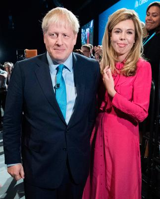 Boris Johnson with partner Carrie Symonds