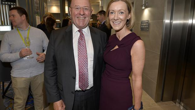 17th May 2018 Rober Dix and Emma Dalton pictured at the Grand opening of the new Maldron Hotel in Brunswick street in Belfast  Mandatory Credit: Presseye/Stephen Hamilton