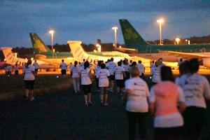 Press Eye - Belfast -  Northern Ireland - 24th June 2015 - Athletes take part in the Grant Thornton Runway Run at Belfast City Airport this evening. Picture by Kelvin Boyes / Press Eye.