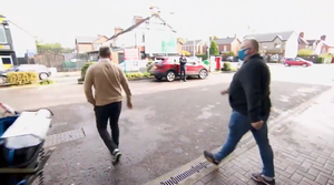 Stephen Nolan questioning a member of the public outside a petrol station. Credit: BBC