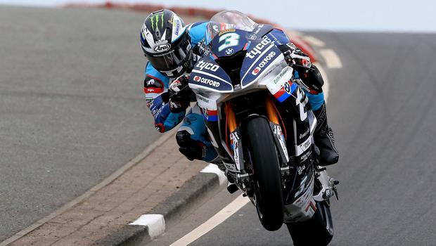 Speed king: Michael Dunlop in North West action yesterday