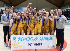 U19B Girls All Ireland Schools League Final St Patrick's Academy Dungannon are the 2020 Winners at The National Basketball Arena Dublin 25/02/20