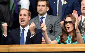GETTY IMAGES ROYAL PHOTOGRAPHER OF THE YEAR FINALIST  The Duke and Duchess of Cambridge watch the Wimbledon Men's final from the Royal Box. Picture: Andrew Parsons/i-Images