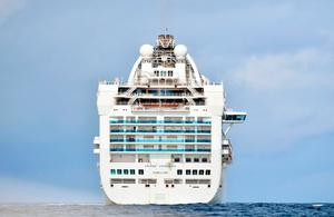 The Covid-19-stricken Grand Princess cruise ship maintains its holding pattern off the Californian coast