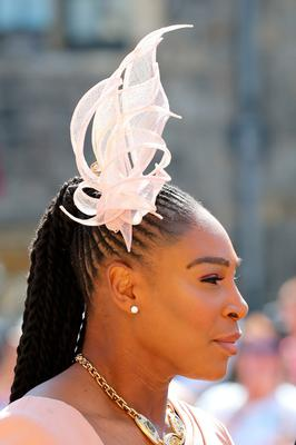 Serena Williams arrives at St George's Chapel at Windsor Castle for the wedding of Meghan Markle and Prince Harry. PRESS ASSOCIATION Photo. Picture date: Saturday May 19, 2018. See PA story ROYAL Wedding. Photo credit should read: Gareth Fuller/PA Wire