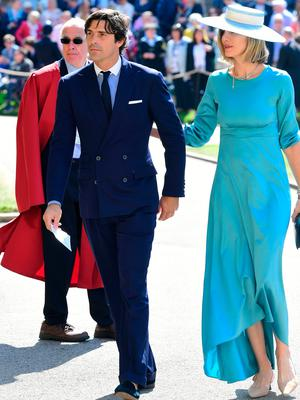 Nacho Figueras and his wife Delfina Blaquier arrive at St George's Chapel at Windsor Castle for the wedding of Meghan Markle and Prince Harry. PRESS ASSOCIATION Photo. Picture date: Saturday May 19, 2018. See PA story ROYAL Wedding. Photo credit should read: Ian West/PA Wire