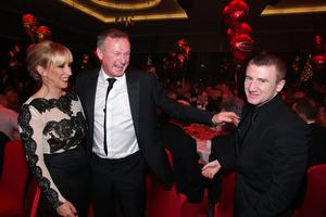 Sarah Shimmons, Michael O'Neill and Paddy Barnes