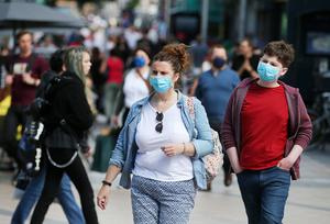 As COVID-19 restrictions are lifted across Northern Ireland members of the public take advantage of the good weather to go shopping in Belfast City Centre on Saturday. Photo by Jonathan Porter / Press Eye.