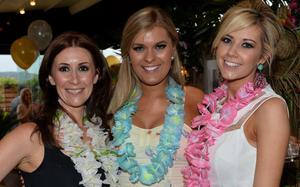 Helena McGarry, Clara Anderson and Louise Bunting at the Vita Liberata birthday bash in the Merchant Hotel's 'Tiki Bar.