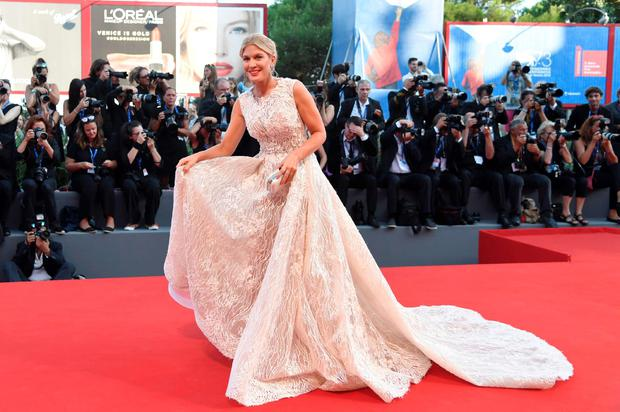 "Model Hofit Golan arrives for the premiere of the movie ""Nocturnal Animals"" presented in competition at the 73rd Venice Film Festival on September 2, 2016 at Venice Lido. / AFP PHOTO / TIZIANA FABITIZIANA FABI/AFP/Getty Images"