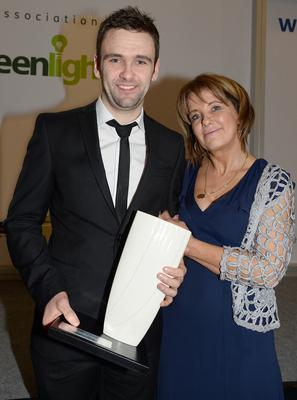 PACEMAKER, BELFAST, 23/1/2015: That's my boy! William Dunlop, winner of the Race of the Year category at the Adelaide Motorbike awards with his mother Louise. PICTURE BY STEPHEN DAVISON