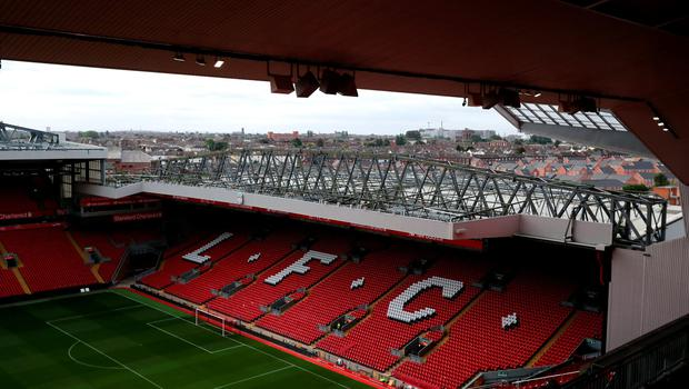 "A general view of the Kop End at Anfield following the opening of the new Main Stand, Liverpool. PRESS ASSOCIATION Photo. Picture date: Friday September 9, 2016. Photo credit should read: Peter Byrne/PA Wire. RESTRICTIONS: EDITORIAL USE ONLY No use with unauthorised audio, video, data, fixture lists, club/league logos or ""live"" services. Online in-match use limited to 75 images, no video emulation. No use in betting, games or single club/league/player publications."