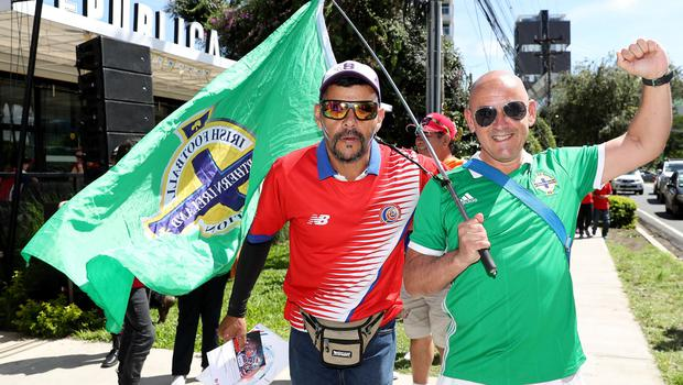 Press Eye - Belfast -  Northern Ireland - 03rd June 2018 - Photo by William Cherry/Presseye  Northern Ireland fans before Sunday mornings International Friendly against Costa Rica at the Nuevo Estadio Nacional de Costa Rica in San Jose.   Photo by William Cherry/Presseye