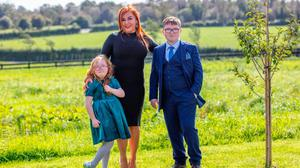 Anne Donaghy with her children, Andrea and John