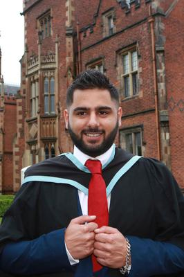 Kamran Afzal from Portadown graduating from Queen's University in Computer Information Technology.
